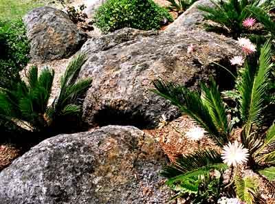 artificial rock garden