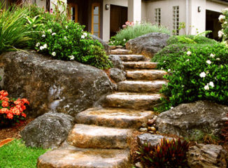 sandstone artificial rock stairs