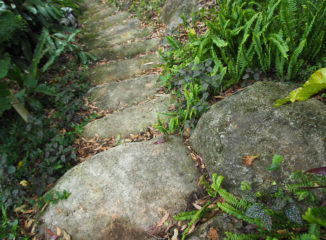 fake rock staircase